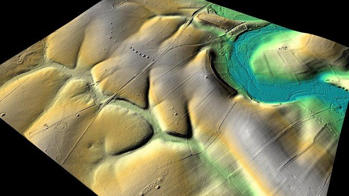 Stonehenge LiDAR Archaeology Landscape 3D Model