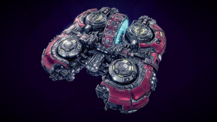 Starfall Tactics — Almace Vanguard carrier 3D Model
