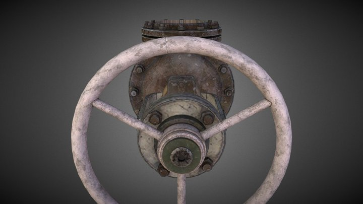 Handwheel Valve 1 3D Model