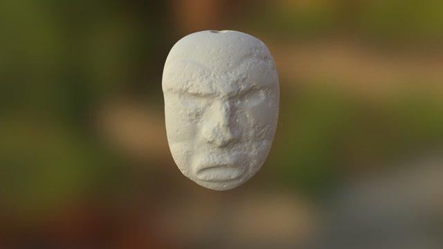 Uaxactun Olmec statue 3D Model