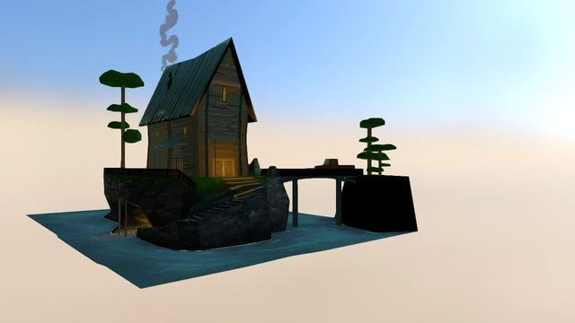 Cabin OBJ 3D Model