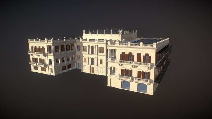Hollywood Rd Queen's College Main Bldg 荷李活道皇仁書院 3D Model
