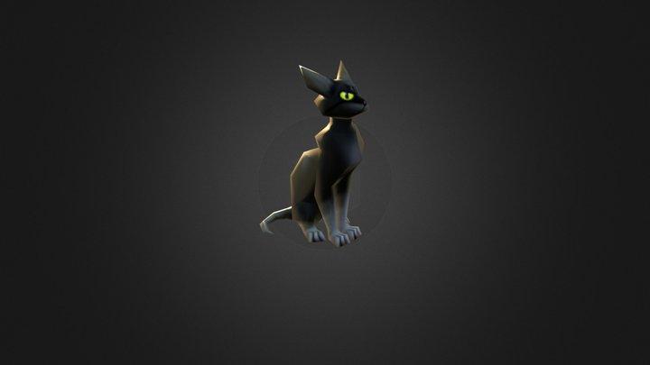Lowpoly Cat 3D Model