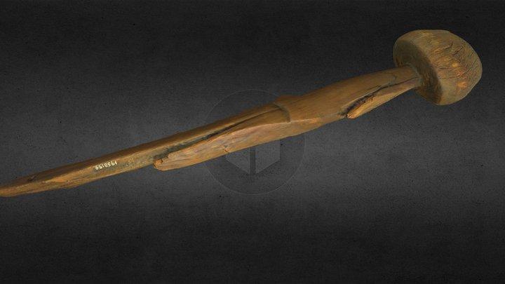 NMI 1958: 94 Bronze Age wooden training sword 3D Model