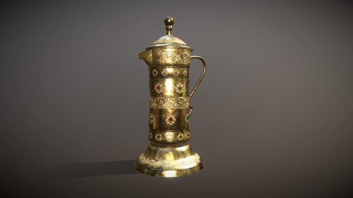Golden flagon 3D Model