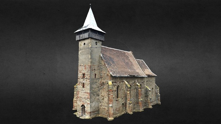 Santimbru Reformed Church (with interior) 3D Model