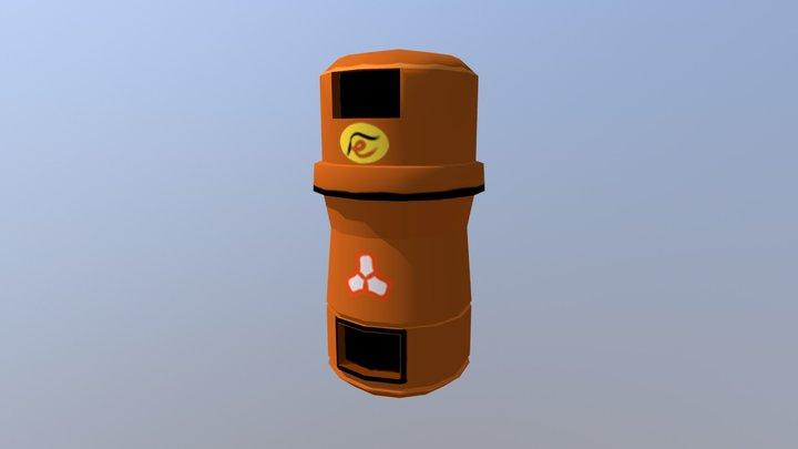 Double Trashcan Tokyo 3D Model