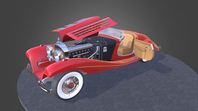 1938 Mercedes-Benz 540k Spezial Roadster 3D Model