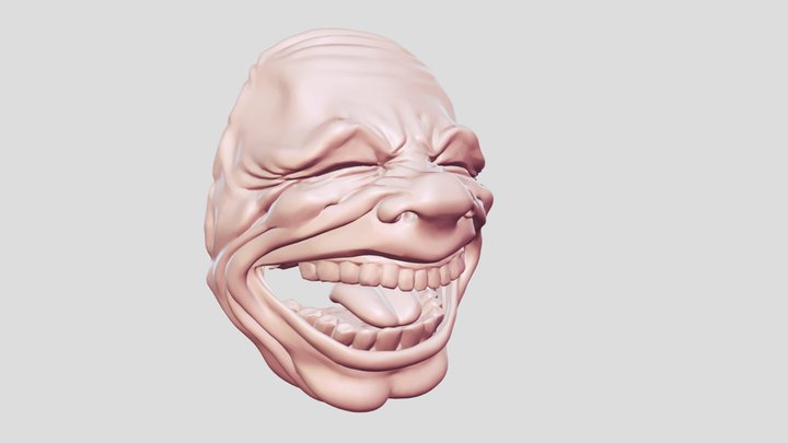 funny face mask 3D Model