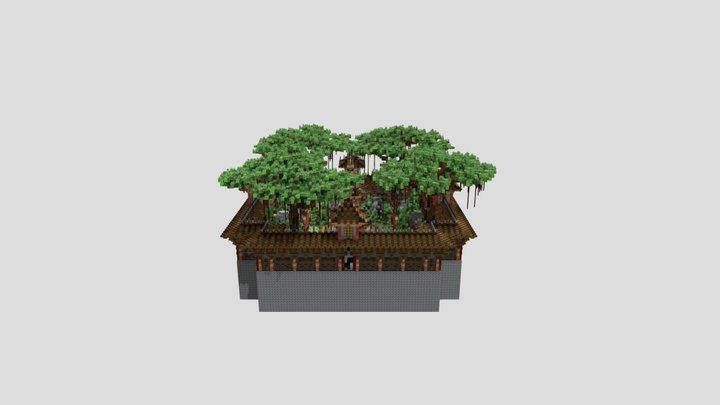 Sumo Arena ~ Oriental Theme 3D Model