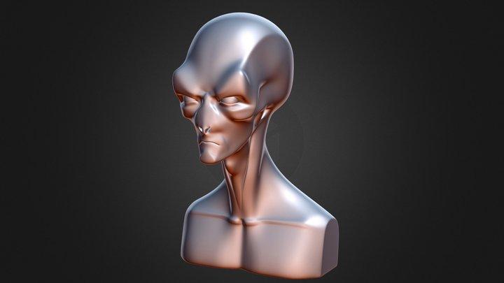 Alien Slim 3D Model