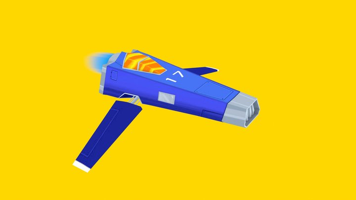Low Poly Spaceship 3D Model