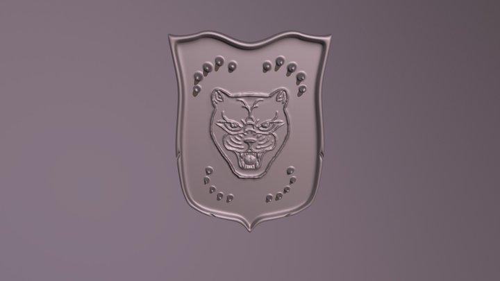 Lioness Psychic Roar Shield 3D Model