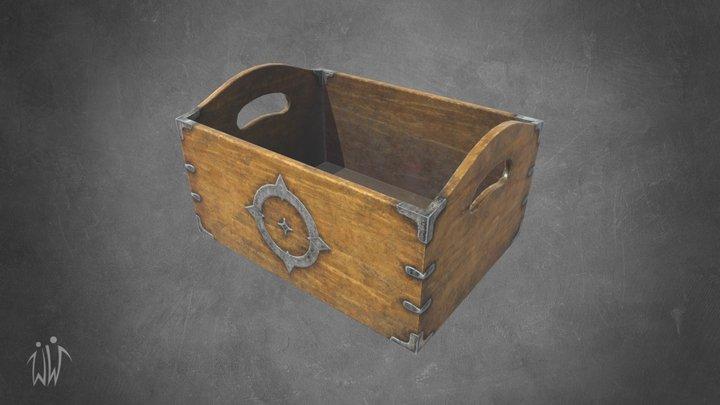 Ancient Wooden Box 3 3D Model