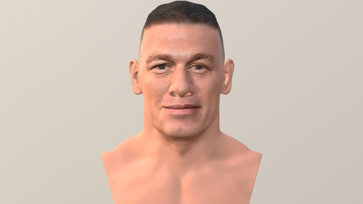 John Cena bust for full color 3D printing 3D Model