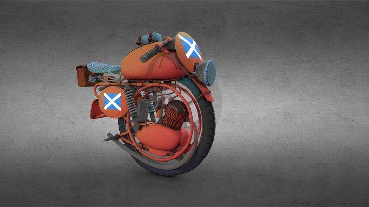 Scottish Monobike 3D Model