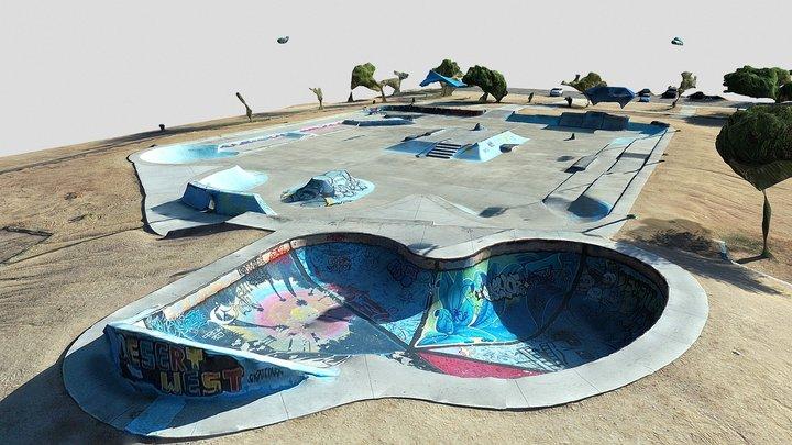DESERT WEST SKATE PARK 09-27-2020 3D Model