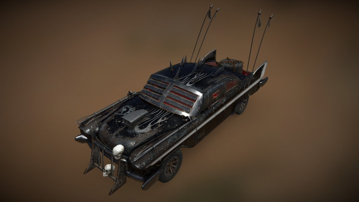 Mad Max Plymouth Fury 3D Model