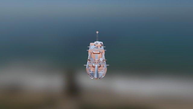 Marine Battleship 3D Model