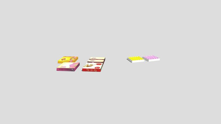 Indian Sweets 3D Model