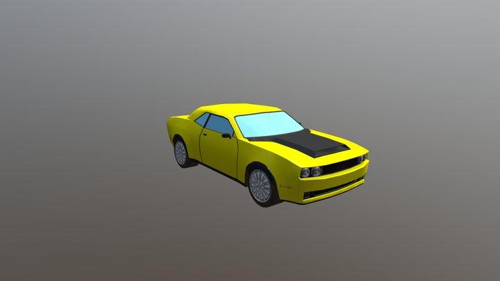 Simple Sport Car 3D Model