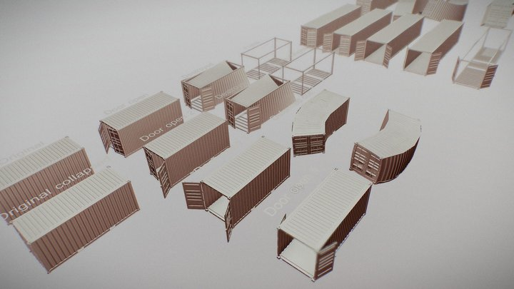 Container Assets 3D Model