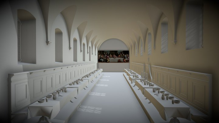 "The Refectory of ""Le Murate"" 3D Model"