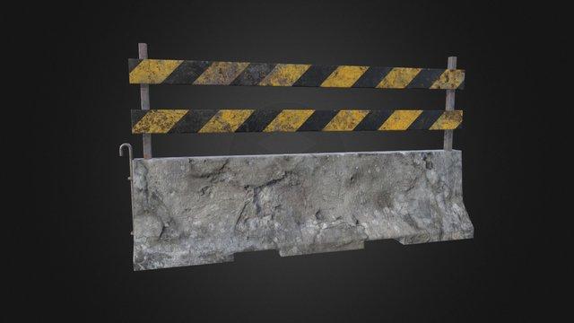 Concrete Barrier v2_2 3D Model