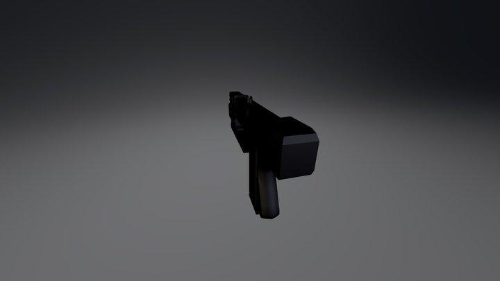 mac 11 black 3D Model
