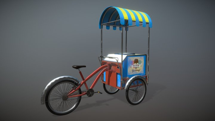 Ice Cream Cycle 3D Model