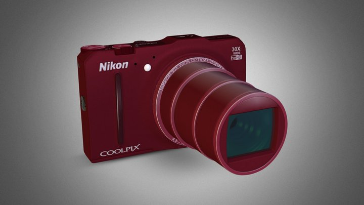 NIKON COOLPIX S9700 [RED EDITION]  3D Model