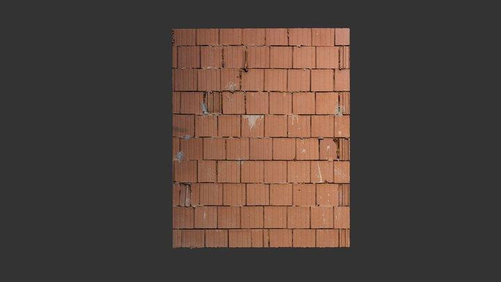 Clay blocks wall texture 3D Model