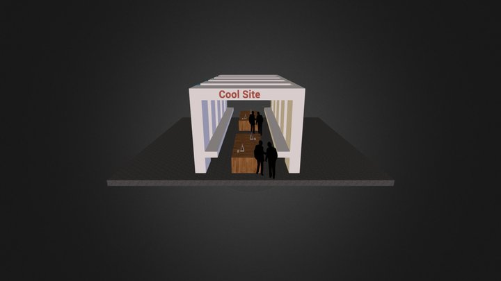 Cool Site Booth Design 3D Model