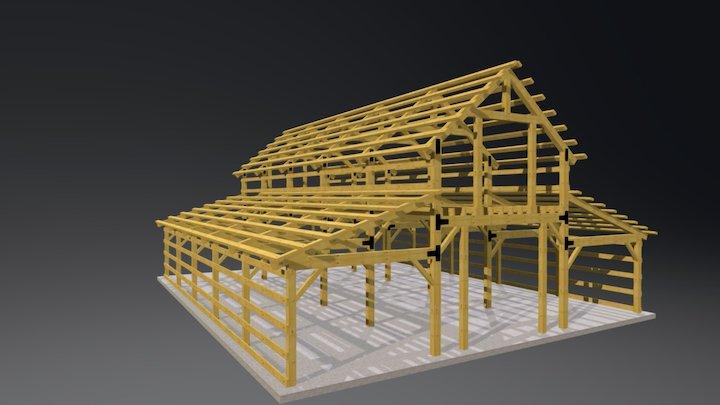 40x50 12-16-12 Frame Model 3D Model