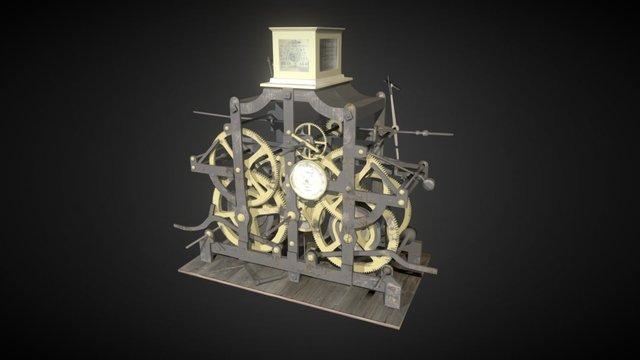Reloxo da Catedral de Santiago en #galicia100 3D Model