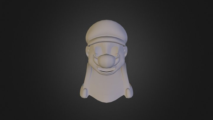 Mario Bust WIP 3D Model