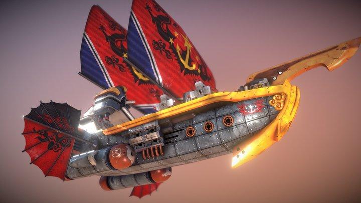 Dynasty Destroyer Miniature 3D Model