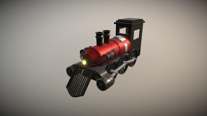 Old Locomotive 3D Model