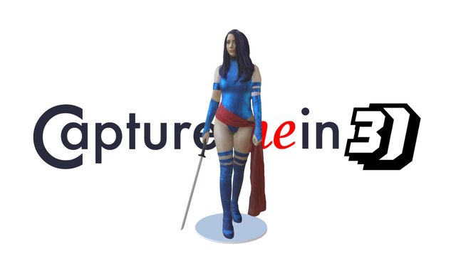 Lana as Psylocke 3D Model