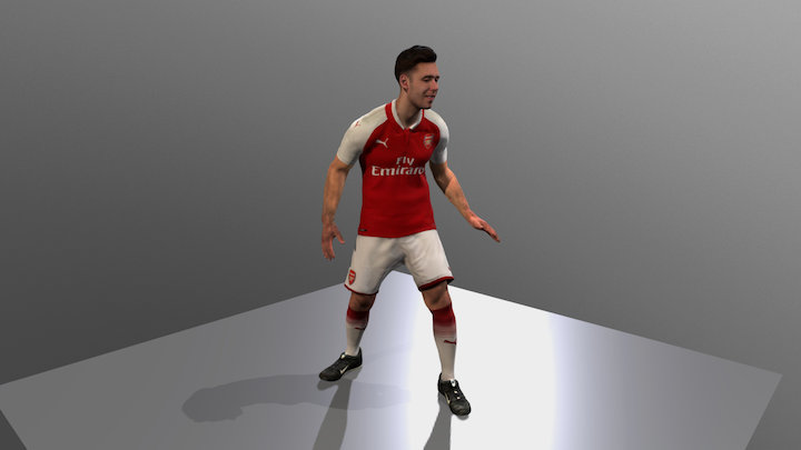 Arsenal Home Kit 2017-2018 Animated 3D Model