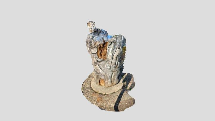 Skulptur Gesicht, Schauinsland Freiburg 3D Model