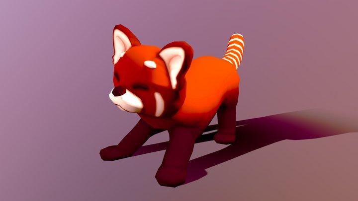Red Panda Happy - Animated 3D Model