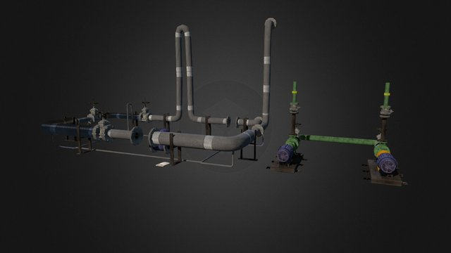 Pipe System 3D Model