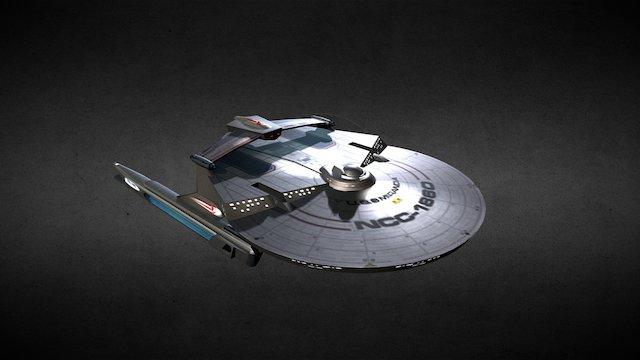 Miranda Class Light Cruiser 3D Model