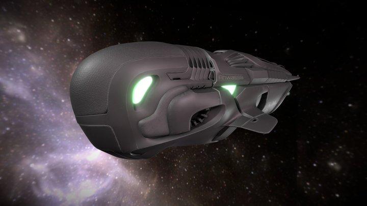 """Spacecraft """"Ahwassa"""" 3D Model"""