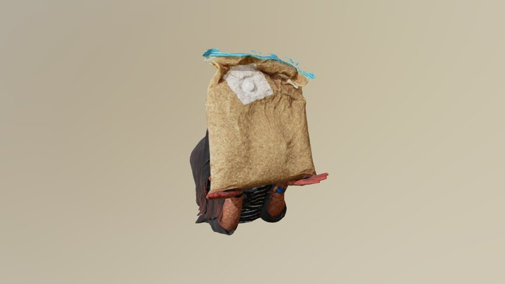 Holding Rice Low 3D Model
