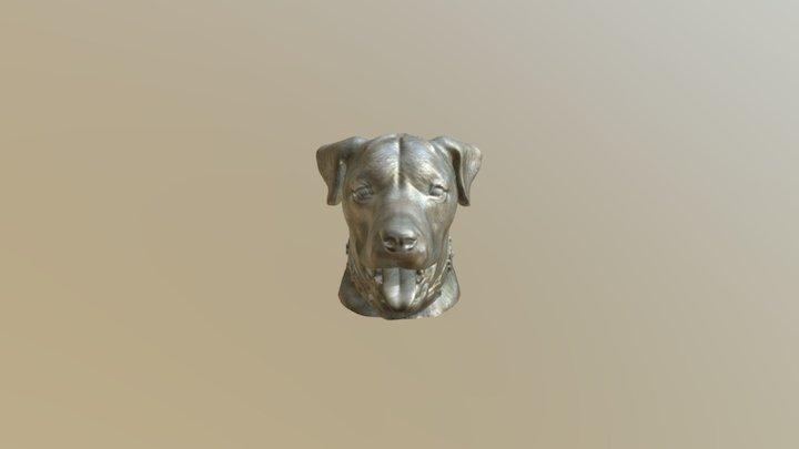 Rottweiler M Ike Open Mouth Bronz 2 3D Model