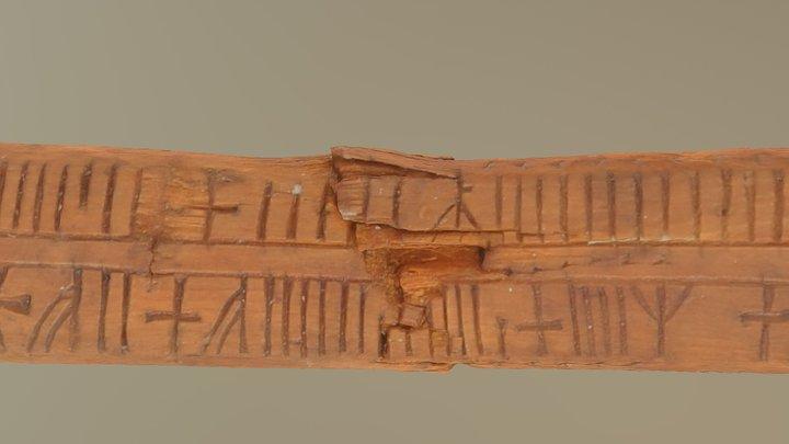 Medeltida runkalender / Medieval rune calendar 3D Model