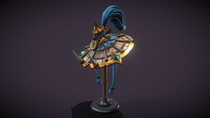 Stylized Assassin Hat 3D Model
