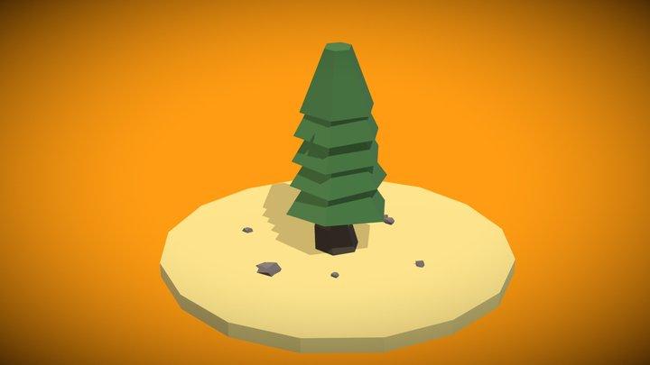Low Poly Pine Tree 3D Model